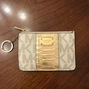 Michael Kors Accessories - Michael Kors Gold Jet Set Card I.D./Coin Holder